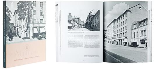 A cover and a spread of the book  Atrium - Erik Bryggman ja Turun arkkitehtuuri.