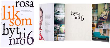 Kansi ja aukeama kirjasta Hytti nro 6.