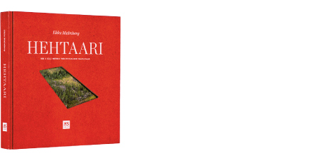 A cover and a spread of the book Hehtaari.