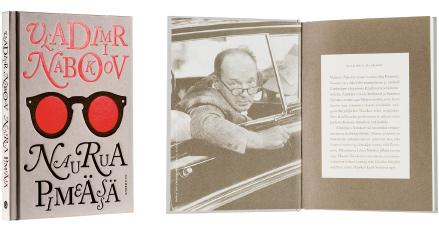 A cover and a spread of the book Naurua pimeässä.