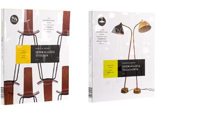 A cover and a spread of the book Suomalaisia tuoleja / Suomalaisia valaisimia.