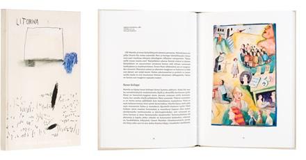 A cover and a spread of the book Olli Marttila - Muistikuvia Litorinamereltä.