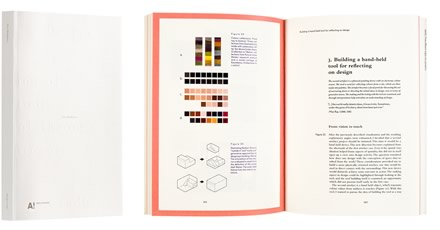 A cover and a spread of the book Design Credo.