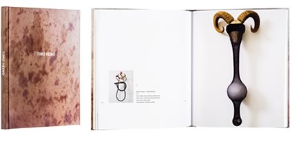 A cover and a spread of the book Timo Heino.
