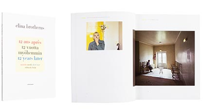 A cover and a spread of the book 12 ans après / 12 vuotta myöhemmin /<br /> 12 Years Later.