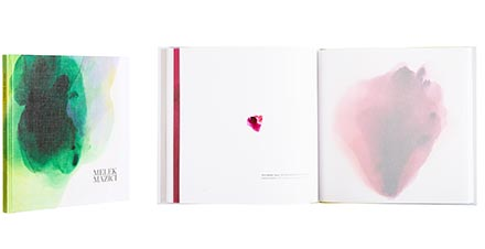 A cover and a spread of the book Melek Mazici Transparency.