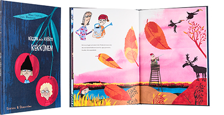 A cover and a spread of the book Boggan och Kyösti Kekkonen.