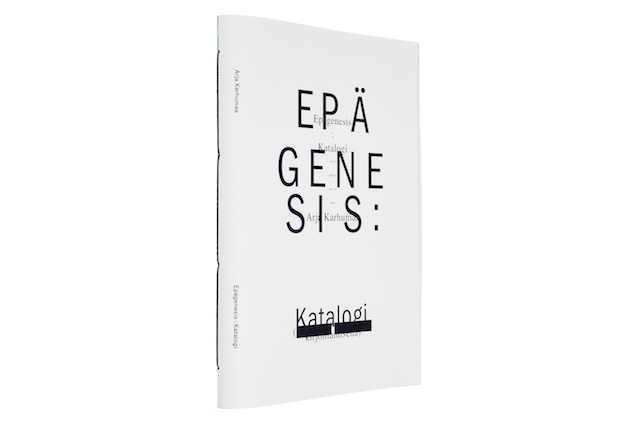 A cover and a spread of the book Epägenesis : Katalogi.