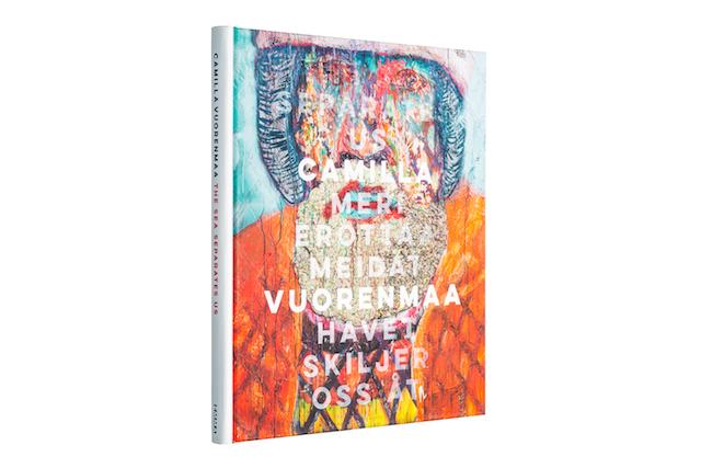 A cover and a spread of the book Camilla Vuorenmaa: Meri erottaa meidät.