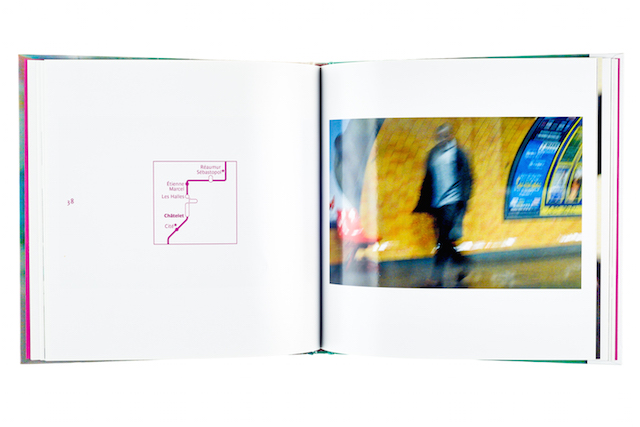 A cover and a spread of the book Metro #4 Paris.