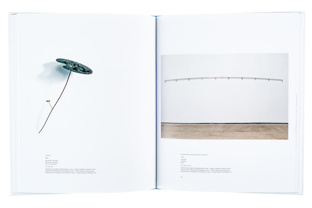 A cover and a spread of the book Jussi Heikkilä. Observationes 1984-2016.