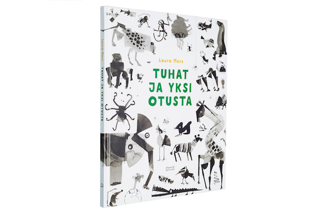A cover and a spread of the book Tuhat ja yksi otusta.