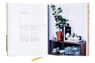 A cover and a spread of the book Green Home Book - Inspiring Book of Plants, Easy Care Tips & Green Homes.