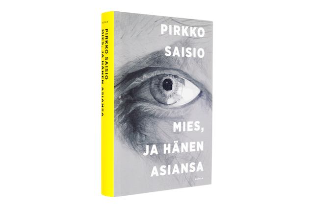 A cover and a spread of the book Mies, ja hänen asiansa.