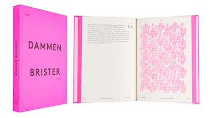 A cover and a spread of the book Dammen brister.