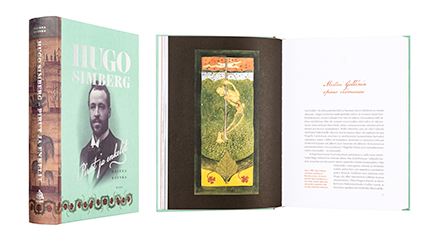 A cover and a spread of the book Hugo Simberg - Pirut ja enkelit.
