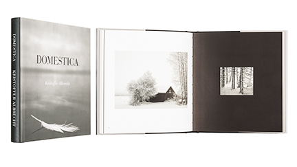 A cover and a spread of the book Domestica.
