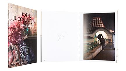A cover and a spread of the book Hotel Jugoslavija.