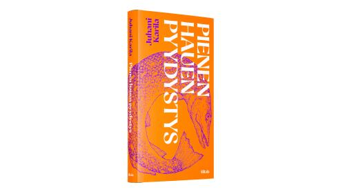 A cover and a spread of the book Pienen hauen pyydystys.