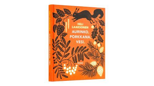 A cover and a spread of the book Aurinko. Porkkana. Vesi..