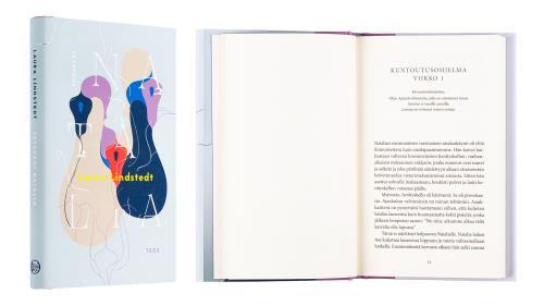 A cover and a spread of the book Ystäväni Natalia.