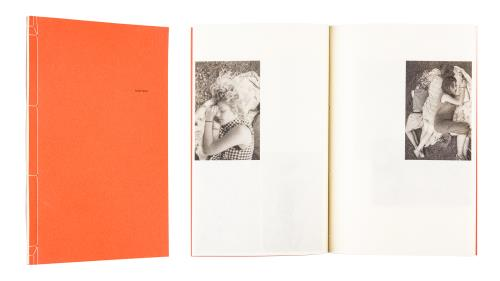 A cover and a spread of the book Sainte Anne.