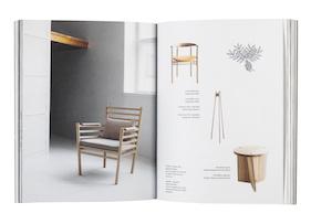 Kansi ja aukeama kirjasta Working with Wood - A Nordic Perspective on Cabinetmaking / Näkökulma pohjoiseen puusepäntyöhön.