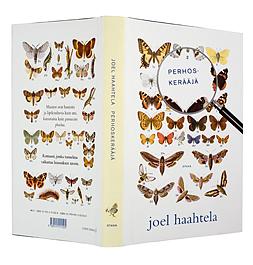 Ett omslag av boken Perhoskerääjä.