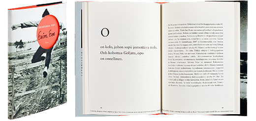 Kansi ja aukeama kirjasta Esim. Esa.