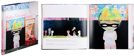A cover and a spread of the book Katja Tukiainen - Works 1999-2007.