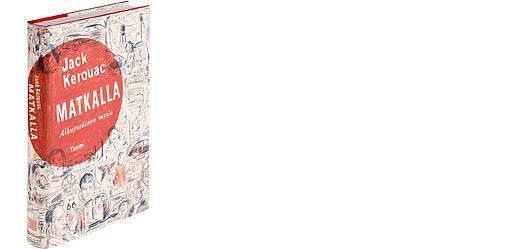 A cover and a spread of the book Matkalla.