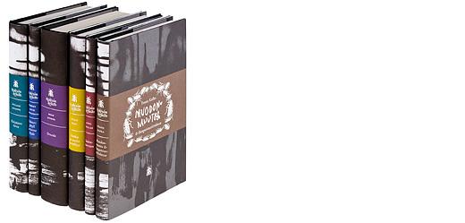 A cover and a spread of the book Keskiyön kirjasto - kirjastossa ilmestyi 2007 kuusi kirjaa.