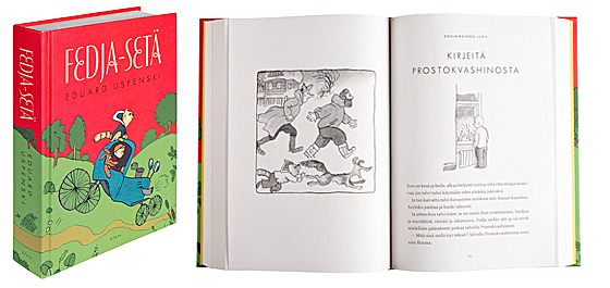 A cover and a spread of the book Fedja-setä.