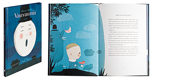 A cover and a spread of the book Vauvaunia.