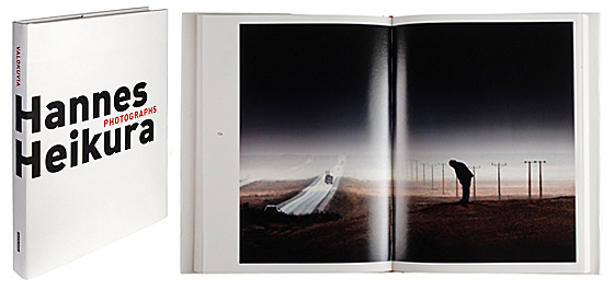 A cover and a spread of the book Hannes Heikura, Valokuvia - Photographs.