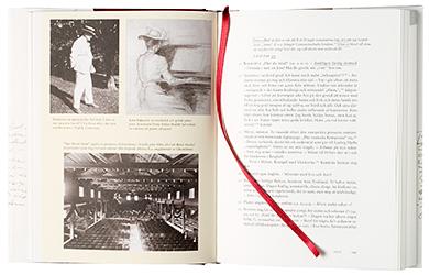 Ett omslag och en öppning av boken Jean Sibelius, Dagbok 1909-1944.