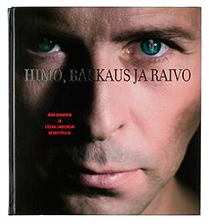Ett omslag av boken Himo, rakkaus ja raivo.