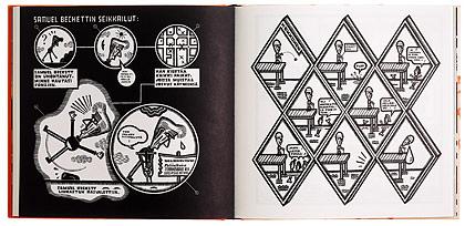Ett omslag och en öppning av boken Kekkonen.