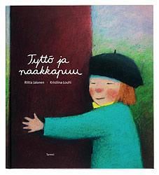 Ett omslag av boken Tyttö ja naakkapuu.
