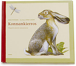 A cover and a spread of the book Konnankierros.