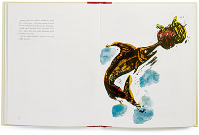 A cover and a spread of the book Parisuhteen keittokirja.