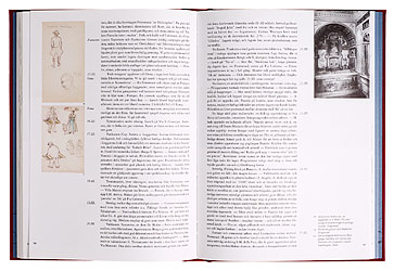 Ett omslag och en öppning av boken Italia la bella. Arkitekterna Hilding och Eva Ekelunds resedagbok 1921-1922.