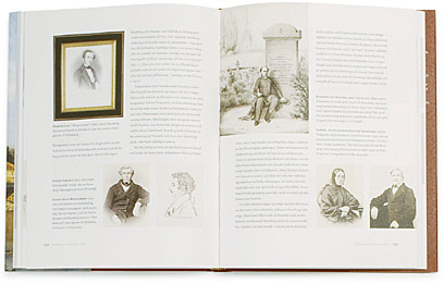 A cover and a spread of the book Johan Ludvig & Frederika Runeberg.